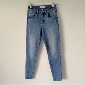 ASHLEY MASON blue denim skinny jeans size 3